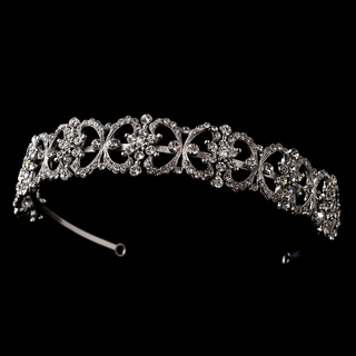 """Dressed to Impress"" Antique Silver Rhinestone Headband"