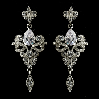 """Glory"" Cubic Zirconia (CZ) and Swarovski Crystal Earrings"