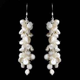 """Keshi Cascade"" Pearl Cluster Earrings"