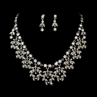 """Lady Luck"" Vintage-style Necklace and Earrings Set"