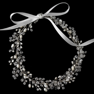 """Let's Celebrate"" Swarovski Crystal and Freshwater Pearl Headband"