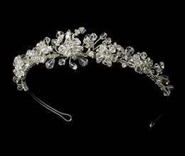 """Love is in the Air"" Swarovski Crystal Tiara (Clear Crystals on Silver)"