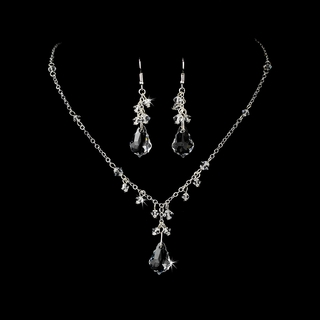"""Simply Stunning"" Swarovski Crystal Necklace and Earrings Set"