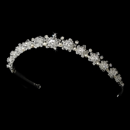 """Starry Nights"" Swarovski Crystal and Freshwater Pearl Headband"