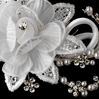 White Jewelry and Hair Accessories