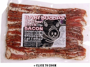 Baby Bubba's Butcher Block Bacon - Hickory Smoked Peppered - 2pk