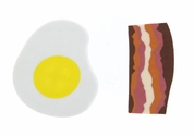 Bacon and Egg Erasers