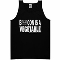 Bacon Is A Vegetable Mens Tank Top - Black