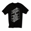 Bacon Is Meat Candy Banner Youth T-shirt - Black - Blue or Pink