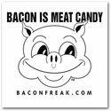 Bacon is Meat Candy Car Window Sticker - Black on White