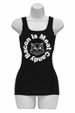 Bacon Is Meat Candy (Circle) Womens Tank Top