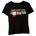 Bacon Is Meat Candy (I Heart Bacon) Babydoll Shirt