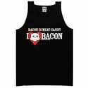 Bacon Is Meat Candy (I Heart Bacon) Mens Tank Top - Black
