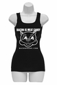 Bacon Is Meat Candy (Original Pig) Womens Tank Top