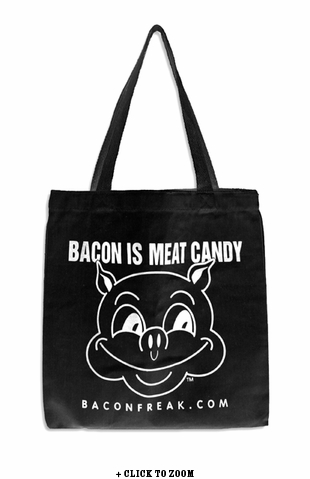 Bacon Lover's Black Tote Bag