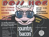 Boss Hog No Nitrite Hickory Smoked Country Bacon - 2pk