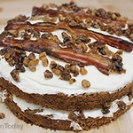 Candied Bacon and Walnut Carrot Cake