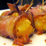Cheesy Bacon Wrapped Tater Tots