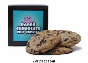 Chocolate Chip Cookies Flavored With Bacon - 3pk