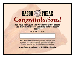 Gift Certificate Announcement