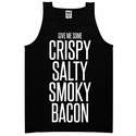 Give Me Some Bacon Mens Tank top - Black