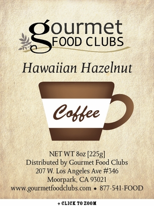 Gourmet Food Clubs Hawaiian Hazelnut Coffee