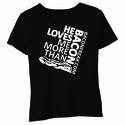 He Loves Me More Than Bacon - Square Logo Baby Doll Shirt
