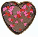 Heart Shaped Brownie Flavored with Bacon