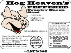 Hog Heaven's Peppered Country Bacon