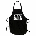 I'd Rather Be Eating Bacon Apron - Black