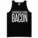 I'd Rather Be Eating Bacon Mens Tank top - Black