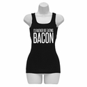 I'd Rather Be Eating Bacon Womens Tank Top - Black