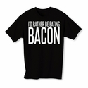 I'd Rather Be Eating Bacon Youth T-shirt - Black - Blue or Pink