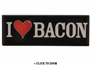"""I Love Bacon"" Panorama Magnet"