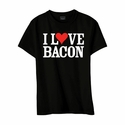 """""""I Love Bacon"""" Youth T-shirt - Black - Blue or Pink"""