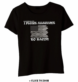 I Pledge Allegiance To Bacon Babydoll Shirt