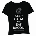 Keep Calm and Eat Bacon Baby Doll Shirt