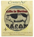 """""""Life Is Better With Bacon"""" Coaster and Holder Set"""