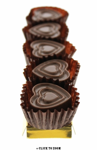 Milk Chocolate Hearts Flavored With Bacon - 5pc