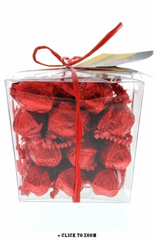 Mini Chocolate Roses Flavored With Bacon