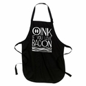 Oink If You Love Bacon Apron - Black