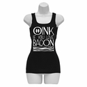 Oink If You Love Bacon Womens Tank Top - Black
