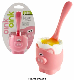 Oink Oink Egg Cup & Spoon