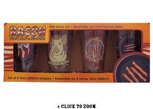 Our Finest Bacon Pint Glass Set