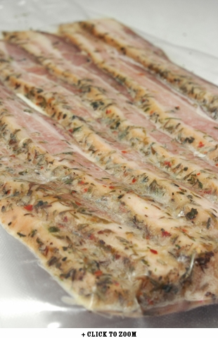 Pan Fried Pier Summer Herb Bacon