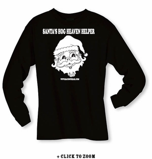 Santa's Hog Heaven Helper - Long sleeve