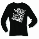 She Loves Me More Than Bacon - Square Logo Long Sleeve Shirt