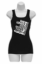 She Loves Me More Than Bacon - Square Logo Womens Tank Top