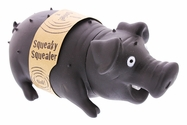 Squeaky Squealer Dog Toy - Black