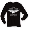 When Pigs Fly Long Sleeve Shirt - Black